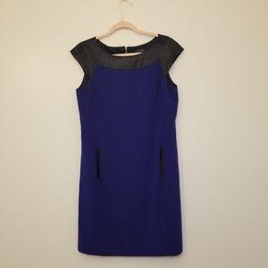Blue shilloute business dress